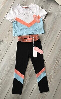 Mckenzie Girls Tracksuit Age 4-5 Years Cropped Top & Leggings BNWT Dance Outfit