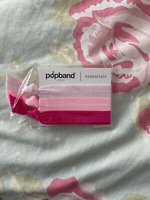 Popband The World's Kindest Hair Tie Hairband 3 pack PINKY