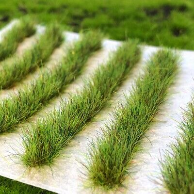 Trackside Grass X 10 - 6mm Static Grass Tufts - Strips (Various Colours)