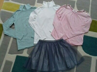 GAP / H&M Girl's Tops & Sparkly Silver Skirt - 10yrs (140cm) Excellent condition