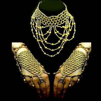 Jewellery Set Belly Dance Slave Bracelet Chain Necklace Ring