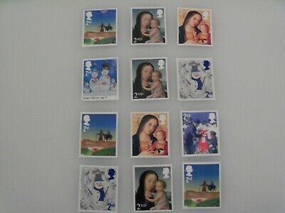 GB 25 x 2nd Class Christmas stamps Unfranked Off Paper