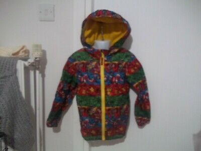 boys marvel comic fleece lined jacket from george aged 5-6yrs in v good conditio