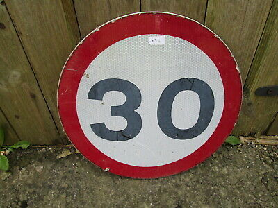 30 MPH road sign 30 cm diameter  traffic sign.street sign.