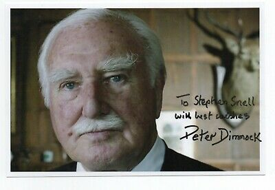 Peter Dimmock 1920-2015 Pioneering Sports broadcaster. Genuine signed photo