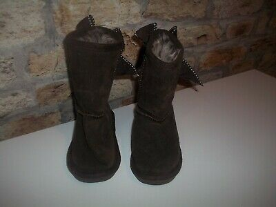 girls brown faux suede boots from tu size UK 5 kids in good condition