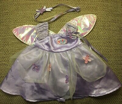 Baby Born Zapf Creations Purple Fairy Dress With Wings And Hairband