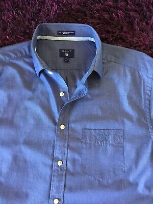 Super Cool 100% Genuine Mens Gant Blue Shirt In Large