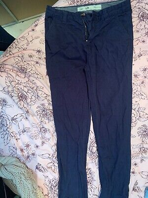Primark Slim Fit Navy Trousers 11-12 Years