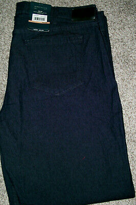 Mens PERRY ELLIS Slim Stretch Dark Indigo Denim Jeans NWT 32x30 $80