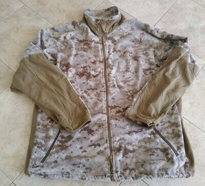 USMC Peckham Digital Desert MARPAT Full Zip Fleece Jacket Large Regular