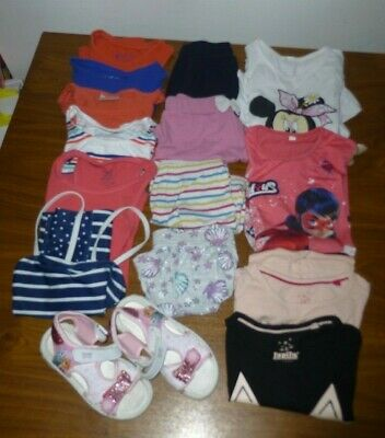 3-4 Years girls Job Lot Bundle of summer clothes 14 items & paw patrol Sandals