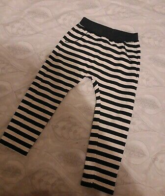Boys Striped Navy And Cream Trousers Zara Age 2-3