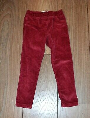 Girls Boden gorgeous corduroy rasperry jeggings trousers size 5 years