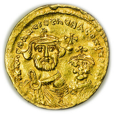 Byzantine Empire (613-641 AD) Heralius AR Solidus, Gold Ancient Coin [4618.32]