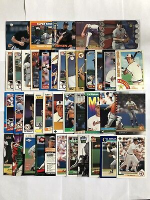 Cal Ripken Jr. - Orioles - 40 Different Cards 1984-2000 With Inserts