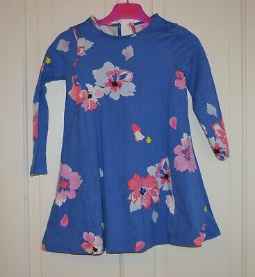 Joules girls lovely blue floral dress size 6 years