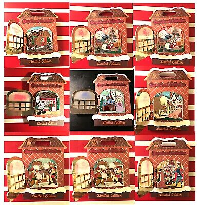 Pick One 2019 Disney Gingerbread House Pin Collection Disneyland+Disney World