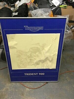 Triumph Motorcycle Trident Display Board & Poster