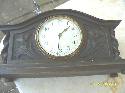 mantel clock  french heavy  solid platform balance  working  double  ended  key