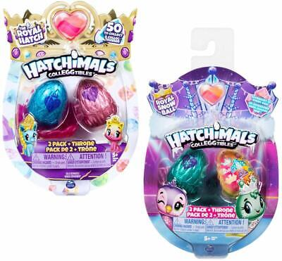 HATCHIMALS 6047181 CollEGGtibles, Season 6 Royal 2-pack with Throne and 2 Access