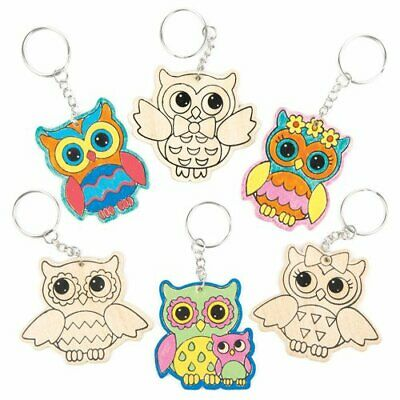 for Kids Arts and Crafts Baker Ross Owl Scratch Art Magnets Pack of 10