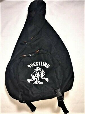 Wrestling bag with wrestling logo and Asics headgear