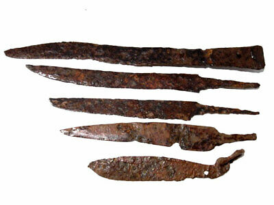 Lot Of 5Pcs.. Roman Period Large Iron Knives, Good Condition, Broad Variety+++