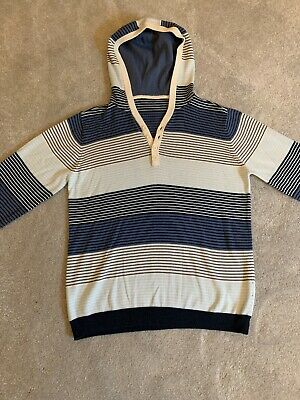 Brand New Marks And Spencer Girls/Women's Stripey Cotton Hooded Top