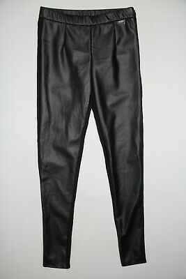 New Guess Girl's Size 16 Black Front Faux Leather Leggings