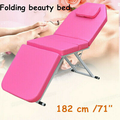 Massage Table Bed Portable Folding Beauty Therapy Adjustable Couch Pink Salon