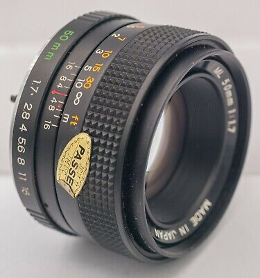 Yashica ML 50mm F1.7 Contax/Yashica C/Y Mount Lens For SLR/Mirrorless Cameras
