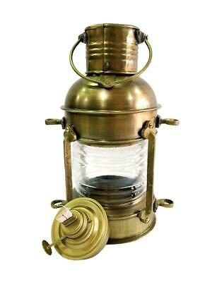 "12"" Antique Brass Lamp Maritime Ship Lantern Boat & Home Wall Decorative Light"