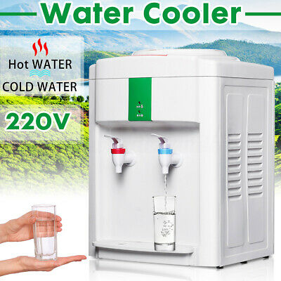 Electric Hot Cold Bench top Water Cooler Dispenser Office For 5L/7.5L/10L/18.9L