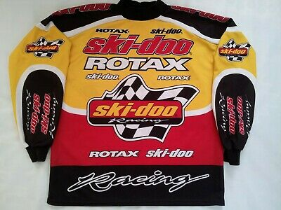 Vintage Made In Canada Ski-Doo Racing Team Pullover Jersey In Size Xl