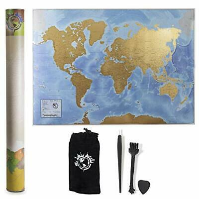 Scratch Nomad Scratch Off Map of the World (33 x 23 Inch) Vibrant Interactive