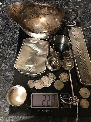 A Job Lot Of Solid HM Sterling Hallmarked Scrap Silver 220g Approx