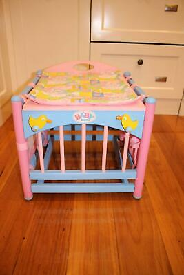 Baby Born doll change table / play pen - Zapf Creations