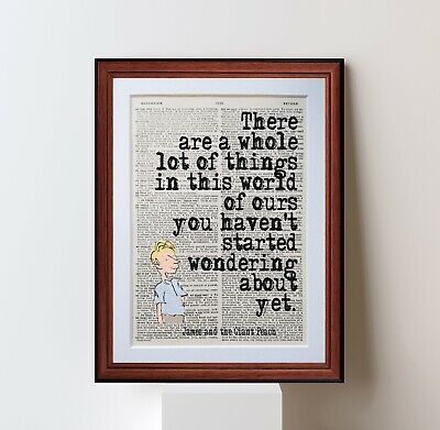 BFG Roald Dahl  Quote dictionary page art print poster literary gift quotes