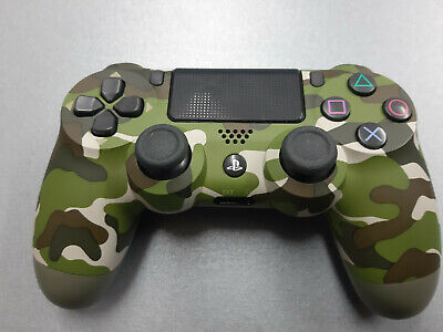 official Sony PS4 DualShock 4 V2 CUH-ZCT2E Wireless Controller Green camoflauge