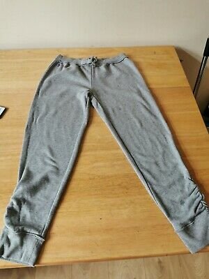 Girls Cropped Tracksuit Bottoms polo Ralph Lauren Age 12-14 Grey