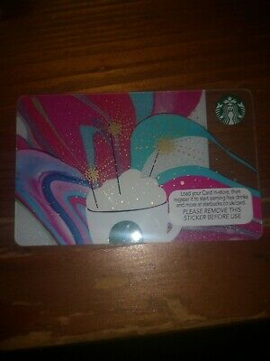 Starbucks Gift Card No Value Unused Collectable Cup Multi Sparklers 2015