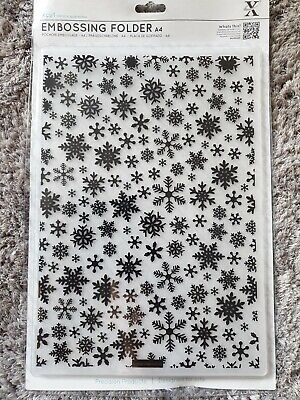 Xcut A4 embossing folder Zebra print Use in A4 or larger die cutting machines