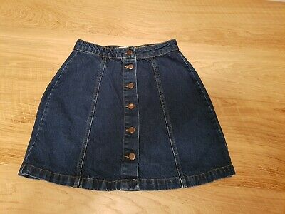 Girls A-line New Look 915 Generation button front denim skirt Age 15 170cm