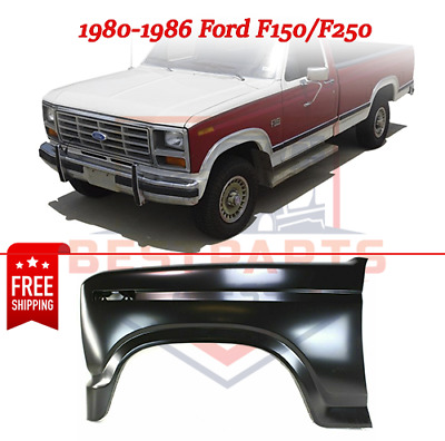 Fender w/ Signal Light Hole, Front LH, Primed Steel for 1980-1986 Ford F150/F250