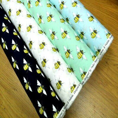 Rose /& Hubble 100/% Cotton Poplin Bumblebee Bee Summer Light Dress Fabric