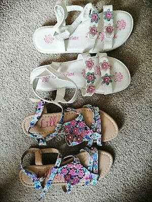 2 pairs of Girls Sandal Shoe Size 2 ex con