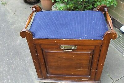 Vintage Piano Stool with Music/Magazine Storage