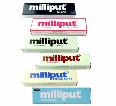 Milliput - Black , Silver Grey, Standard, Turquoise, Terracotta, Superfine White