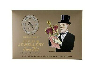 Town Talk Jewellery Gold Care Cleaning Kit Cleaner Sparkle Sachets Cloth